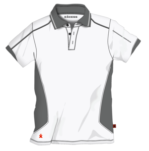 Excess Polo Active Pro XXL weißgrau