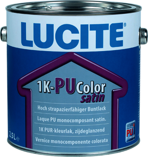 Lucite 1K-PU Color Satin 2,50 l vollweiß Basis 3