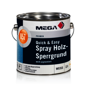 MEGA 057 Quick & Easy Spray Holz-Sperrg. 2,50 l weiß