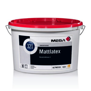 MEGA 321 Mattlatex 5,00 l weiß